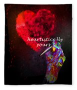 Heartistically Yours Fleece Blanket