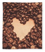 Hearts And Chocolate Drops. Valentines Background Fleece Blanket