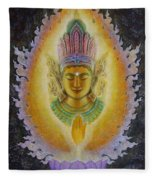 Heart's Fire Buddha Fleece Blanket