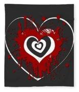 Hearts Graphic 1 Fleece Blanket