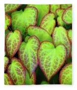 Hearts In Nature Fleece Blanket