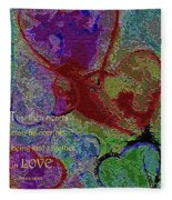 Hearts Knit Together In Love Fleece Blanket