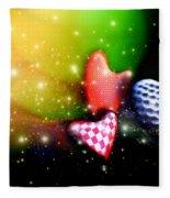 Hearts Racing Fleece Blanket