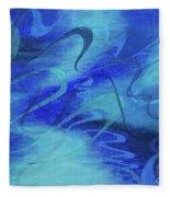 Heartsong Blue 1 Fleece Blanket