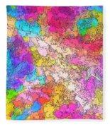 Heat Map Fleece Blanket