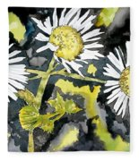 Heath Aster Flower Art Print Fleece Blanket