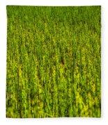 Heather Lake Grass 2 Fleece Blanket