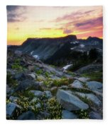 Heather Meadows Sunset Fleece Blanket