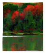 Heavy Tones Seasons Fall  Fleece Blanket