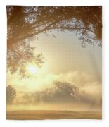 Heavenly Arch Sunrise Fleece Blanket