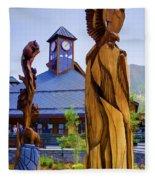 Heavenly Carvings Fleece Blanket