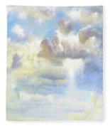 Heavenly Clouded Beautiful Sky Fleece Blanket