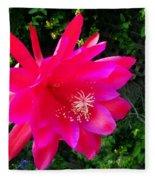 Heavenly Epiphyllum Orchid Cactus Fleece Blanket