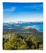 Heavenly South Lake Tahoe View 1 - Left Panel Fleece Blanket
