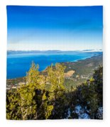 Heavenly South Lake Tahoe View 1 - Right Panel Fleece Blanket