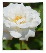 Heavenly White Rose Fleece Blanket