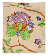 Heavens Flower Fleece Blanket