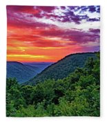 Heaven's Gate - West Virginia - Paint Fleece Blanket