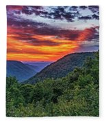 Heaven's Gate - West Virginia Fleece Blanket