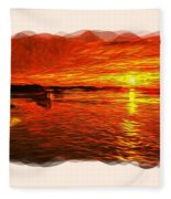 Heavens Of Fire 2 Fleece Blanket