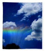 Heavens Rainbow Fleece Blanket