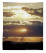 Heaven's Rays 2 Fleece Blanket