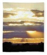 Heaven's Rays Fleece Blanket