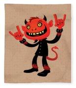 Heavy Metal Devil Fleece Blanket