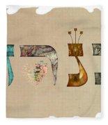 Hebrew Calligraphy- Kineret Fleece Blanket