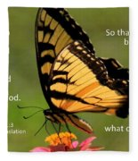 Hebrews Scripture Butterfly Fleece Blanket