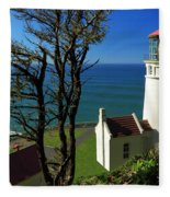 Heceta Head Lighthouse Fleece Blanket