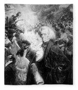 Hector Berlioz, French Composer Fleece Blanket