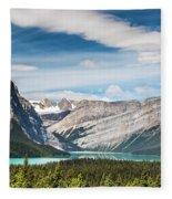 Hector Lake, Canadian Rockies Fleece Blanket
