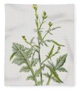 Hedge Mustard Fleece Blanket