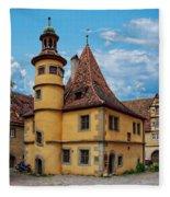 Hegereiterhaus Rothenburg Ob Der Tauber Fleece Blanket