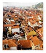Heidelberg Cityscape Fleece Blanket
