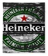 Heineken Beer Wood Sign 1f Fleece Blanket