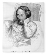 Heinrich Heine, German Writer Fleece Blanket