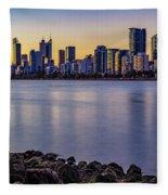 Heirisson Island Sunset Fleece Blanket