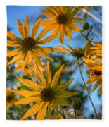 Helianthus Giganteus Fleece Blanket