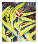 Heliconia 2 Fleece Blanket
