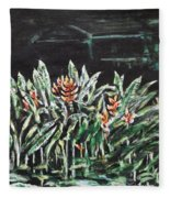 Heliconia 3 Fleece Blanket