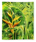Heliconia 8 Fleece Blanket