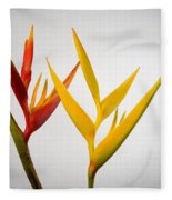Heliconia Fleece Blanket