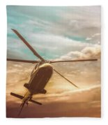 Helicopter Fleece Blanket