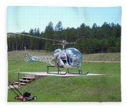 Helicopter Ride South Dakota Fleece Blanket