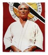Helio Gracie - Famed Brazilian Jiu-jitsu Grandmaster Fleece Blanket