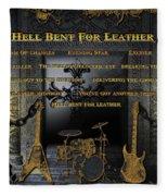 Hell Bent For Leather Fleece Blanket