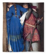 Hellelil And Hildebrand Or The Meeting On The Turret Stairs Fleece Blanket