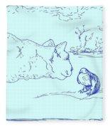 Hello Birdie Fleece Blanket